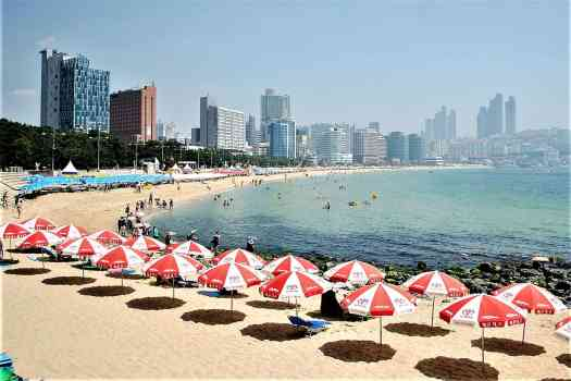 Haeundae Beach in Busan Korea