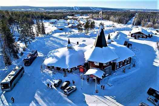 santa claus village in Lapland Finland
