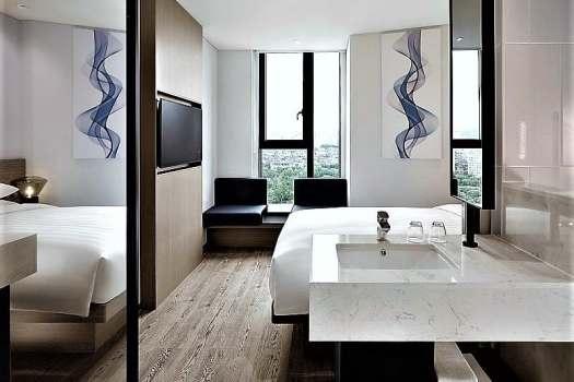 marble countertop in bathroom