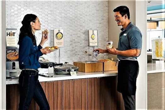 birstro 314 at fairfield by marriott busan serves buffet breakfast