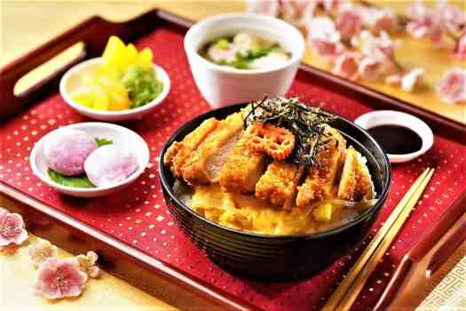Japanese pork cutlet set meal at Corner Cafe at Hong Kong Disneyland