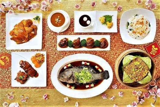 chinese new year dinner set menu at crystal palace restasurant