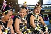 Elderly descendants of the Rungus tribe enjoying rice wine. Photo Credit: David Kirkland.