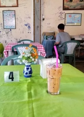 Iced milk tea at sea beach bar and restaurant (3)