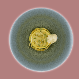 aviation-air-france Crab and prawn ravioli, lobster and vegetable sauce
