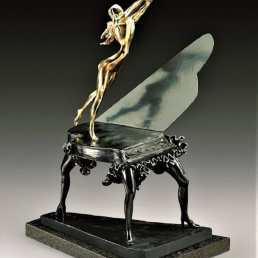 Surrealist Piano by Salvador Dali