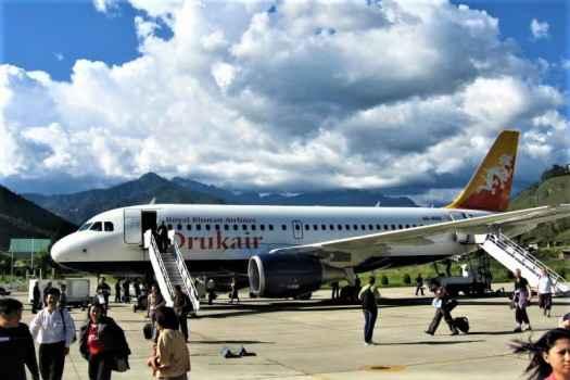 Druk-Air-Airbus-A319-at-Paro-Airport