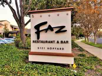 faz restaurant and bar sign