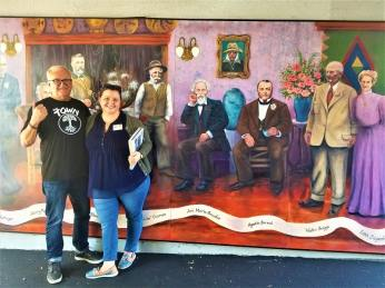 Mural depicting Tri-Valley history.