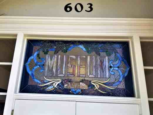Stained glass signage