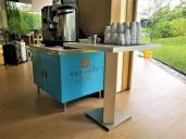 Coffee and tea station. Photo Credit: Accidental Travel Writer.