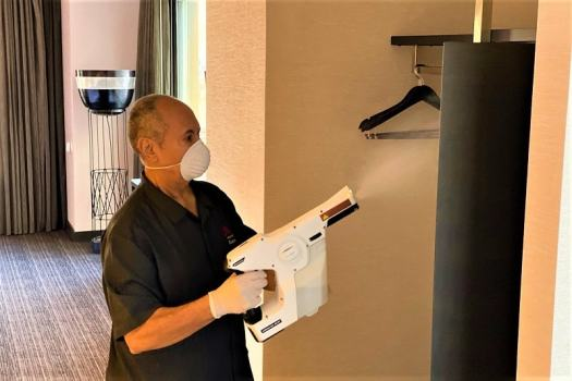 marriott-strengthens-sanitation-standards-by-disinfecting-room-with-electrostatic-spraklers