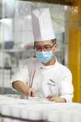 Executive Pastry Chef, Choo Eng Tat, Preparing Chocolate Puddings for TTSH and NCID Nurses