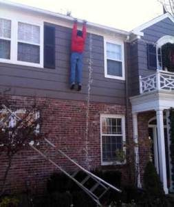holiday ladder accident