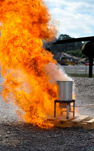 Thanksgiving day turkey frier fire accident