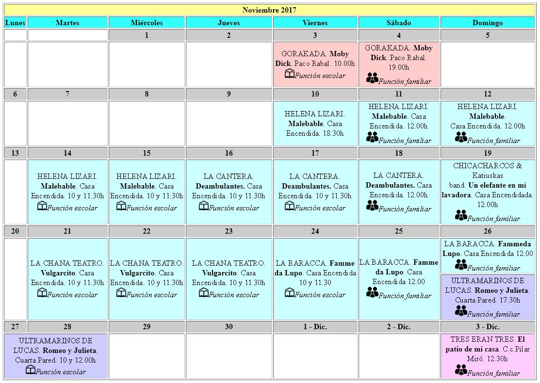 Calendario De Semanas.Calendario Festival 32 Semanas Internacionales De Teatro Accion