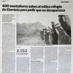 400 montañeros suben al mítico refugio de Elorrieta para pedir que no desaparezca