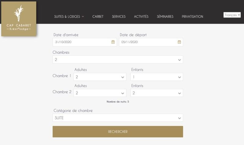 Création de site web pour location de Villa 9