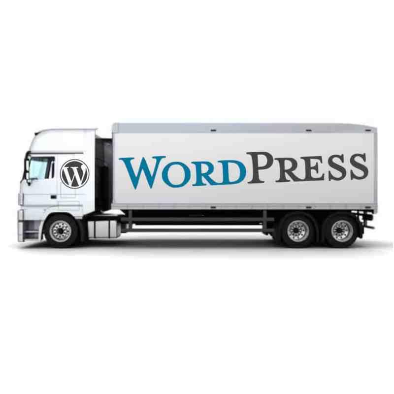 migration WordPress camion