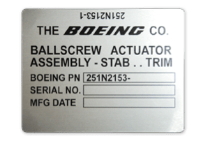 Boeing Nameplate