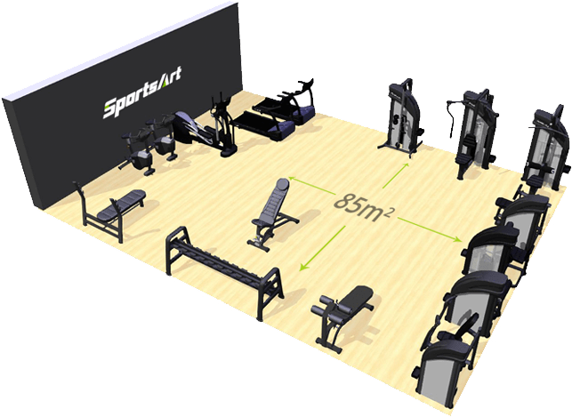 ECO-POWR ™ hotel SportsArt Fitness accolombia img3