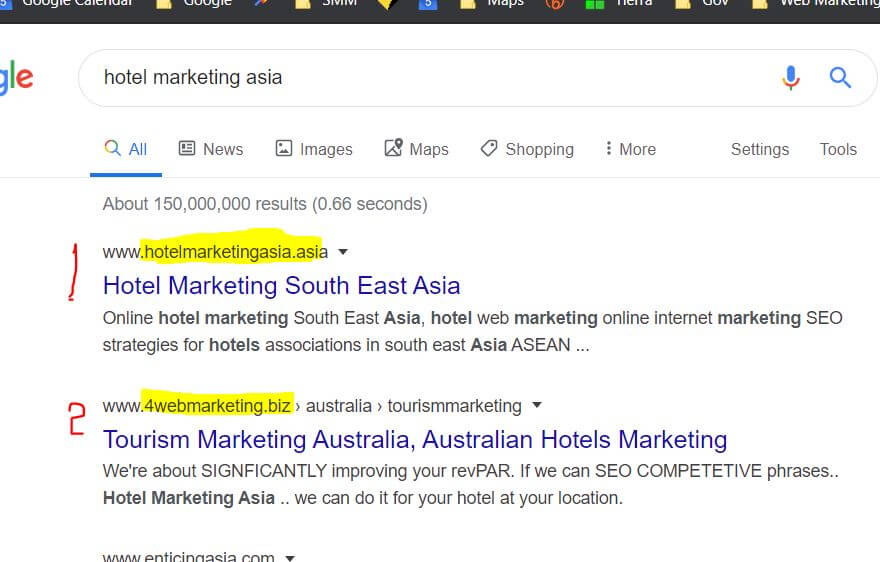 Google hotel marketing asia