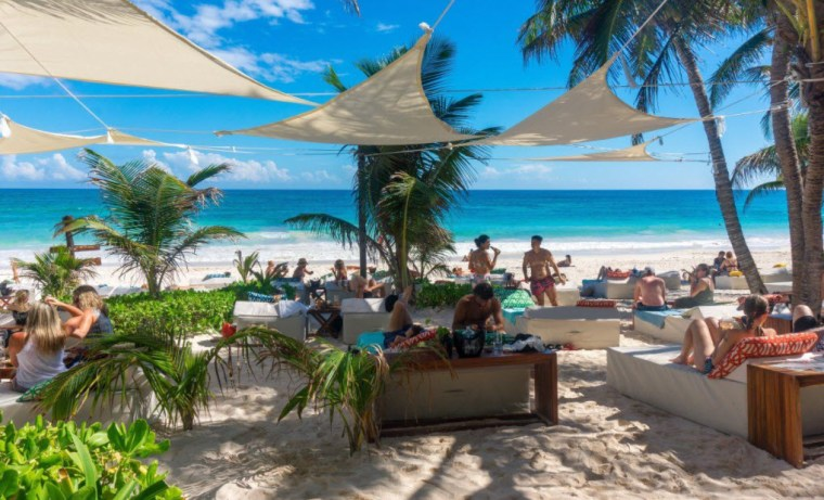 Visiting one of Tulum Beach Club
