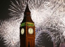 London Fireworks on New Year