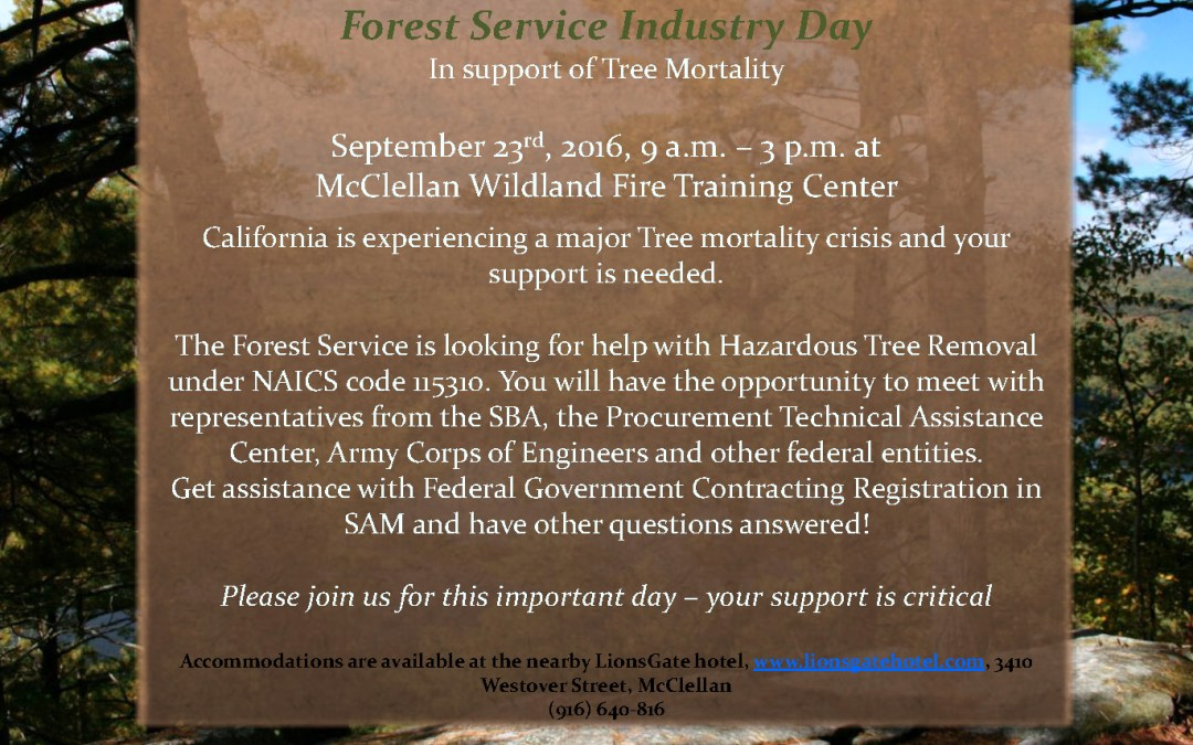 US Forest Service Industry Day October 12, 2016