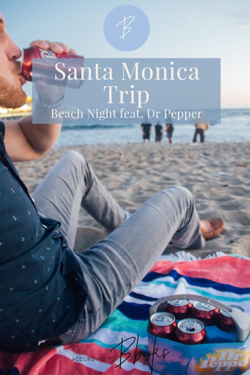 For Memorial Day weekend my boyfriend and I headed to the Santa Monica beach for some summer fun with Dr Pepper!