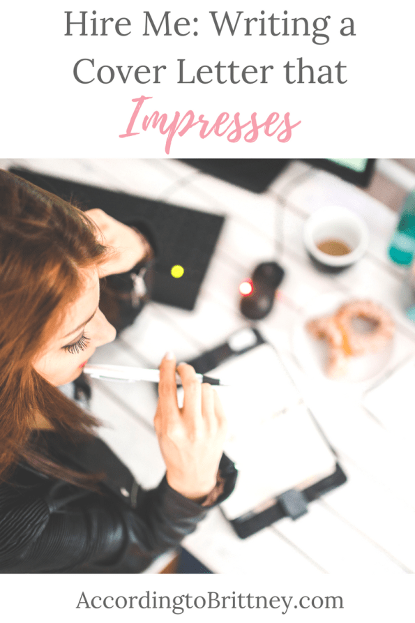Hire Me: Writing a Cover Letter that Impresses