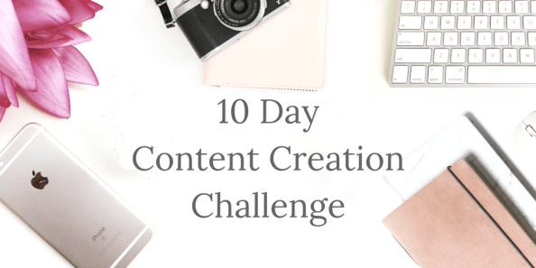 10 day content creation challege