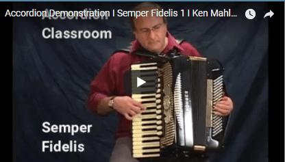 Semper Fidelis I Accordion Demonstration