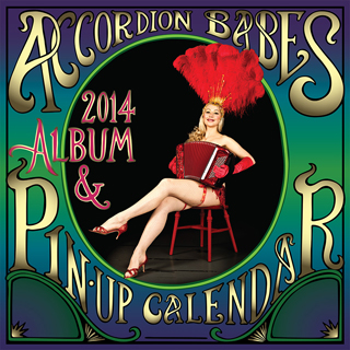 the 2014 accordion babes calendar cover
