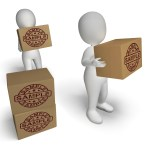 Sample Stamp On Boxes Shows Example Symbol Or Taste