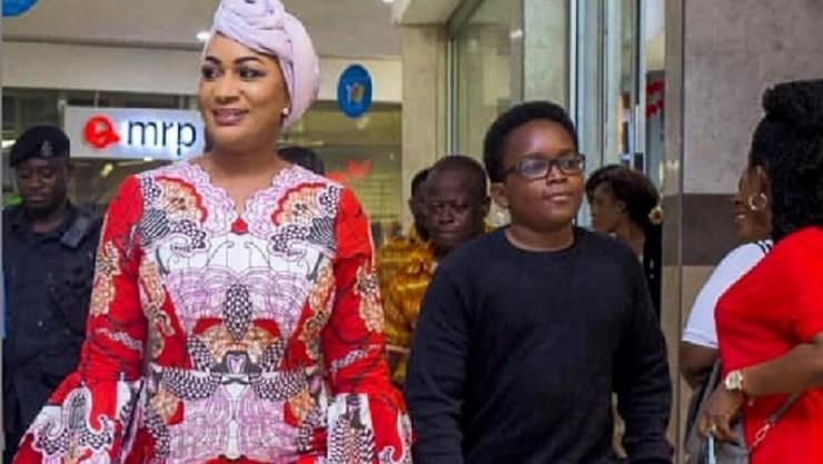 Bawumia's son with his mom Samira