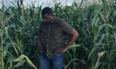 John Dumelo goes back to farming after losing