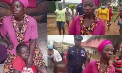 VIDEO:Woman Grabbed For Trying To Kill Her 7-Year-Old Son In Kumasi