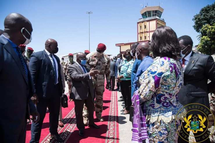 Photos of the ECOWAS head's visit to Guinea, Conakry.