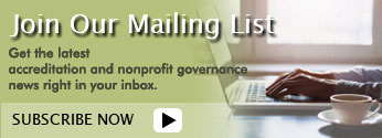 Sign up for Accreditation Guru Mailing list to receive articles and updates on events & news that impacts the nonprofit community!