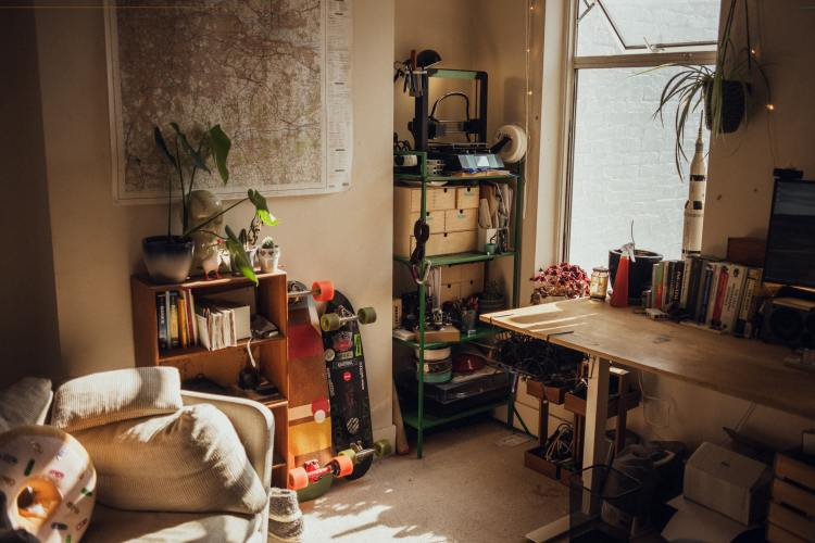 Picture of a cluttered room in a home