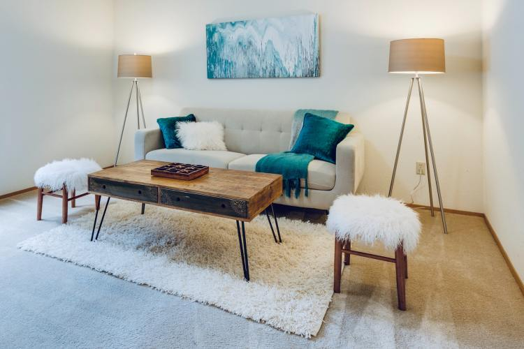 Picture of an interior living room that has been professionally staged.