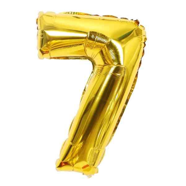 ballon chiffre 7 ans