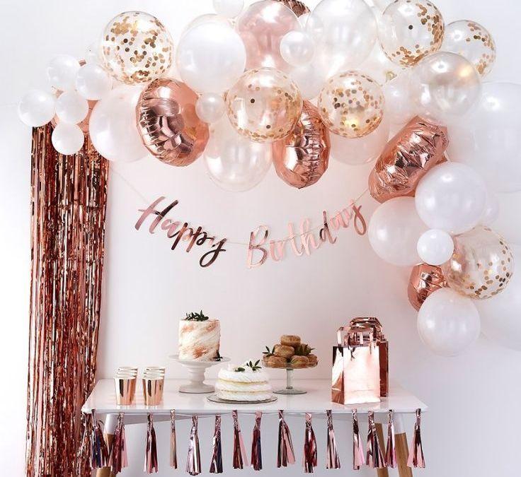 Sur Pinterest Guirlande de ballons rose gold à monter