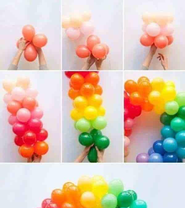 Sur Pinterest 16 décorations de rêve à faire avec des ballons gonflables