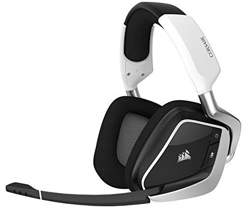 Casque de jeu sans fil CORSAIR VOID PRO RGB - Écouteurs Dolby 7.1 Surround Sound pour PC - Pilotes Discord - 50mm - Blanc (renouvelé)