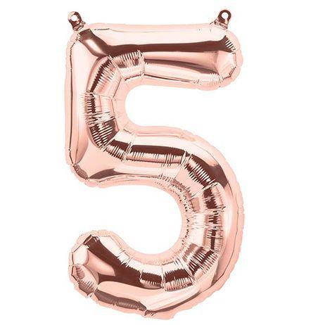 Sur Pinterest Ballon anniversaire chiffre «5» cuivré – 40 cm (rose gold)