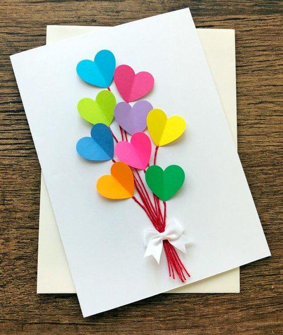 Sur Pinterest Birthday Card / Hearts Wedding Cards / Rainbow Birthday / Blank