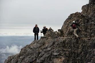 The chain route on Mt Yamnuska (photo by MJ Afshin)