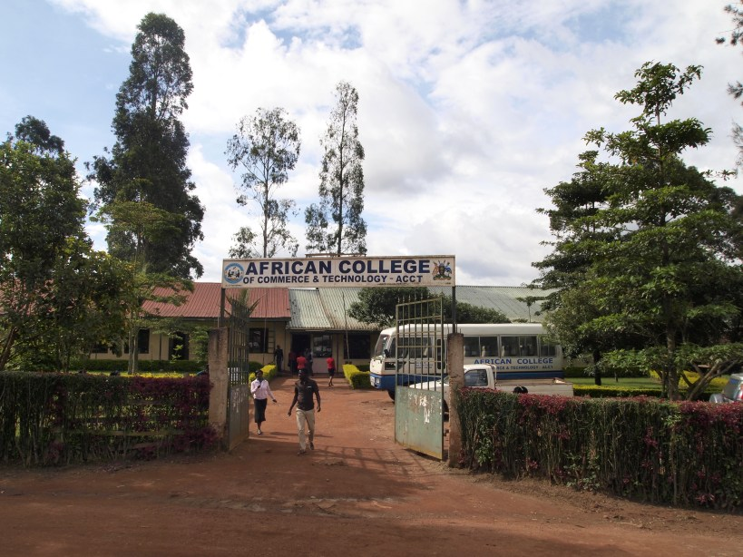 The front sign of the African College of Commerce and Technology